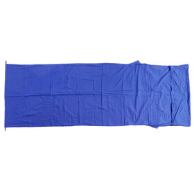 Basic Nature Drap de sac de couchage en coton couverture, royal blue